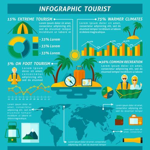 Set d'infographie touristique vecteur