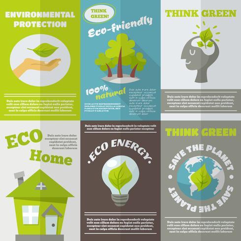 Affiche éco énergie vecteur