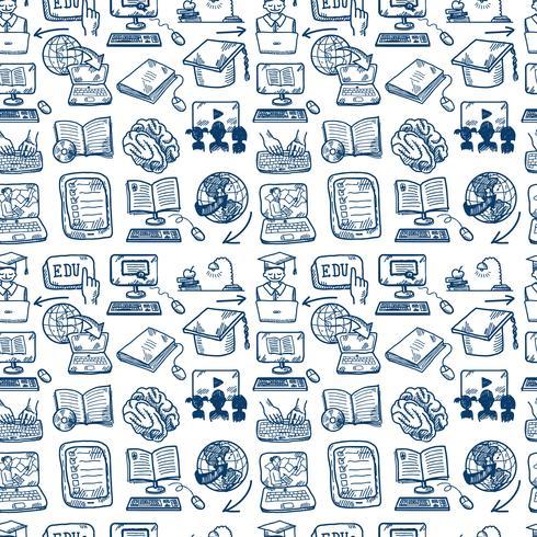 Fond transparent icône de l'éducation en ligne vecteur
