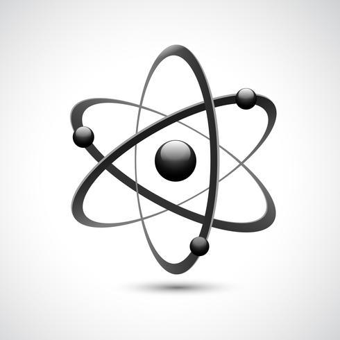 Atom logo symbole 3d vecteur