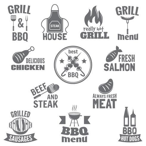 Étiquette de barbecue vecteur