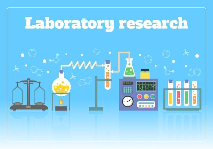 Concept de recherche en laboratoire vecteur