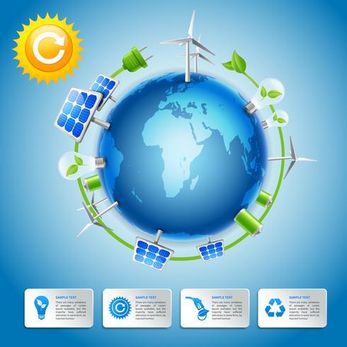 Concept d'énergie et d'énergie verte vecteur