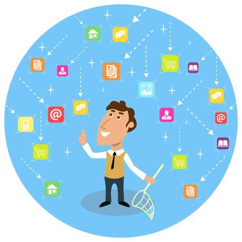 Concept de communication sociale abstraite vecteur