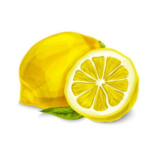 Citron isolé affiche ou emblème vecteur