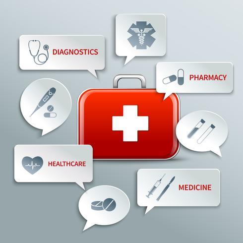 Bulles de papier médical vecteur