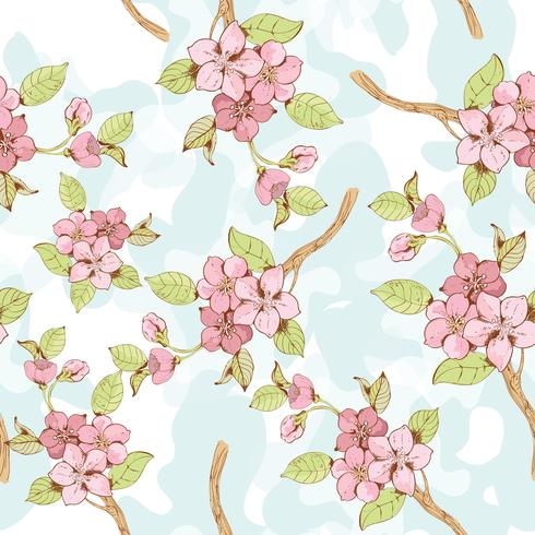 Modèle sans couture de branche Sakura? vecteur