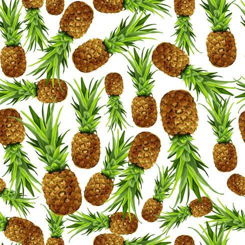 Modèle sans couture d'ananas vecteur