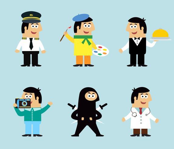 Ensemble d'icônes de professions vecteur