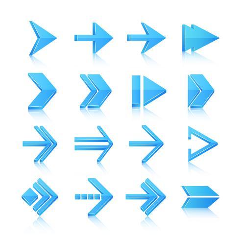 Flèche symboles icônes définies vecteur