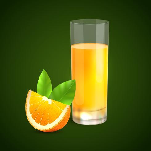 Fond de jus d'orange vecteur