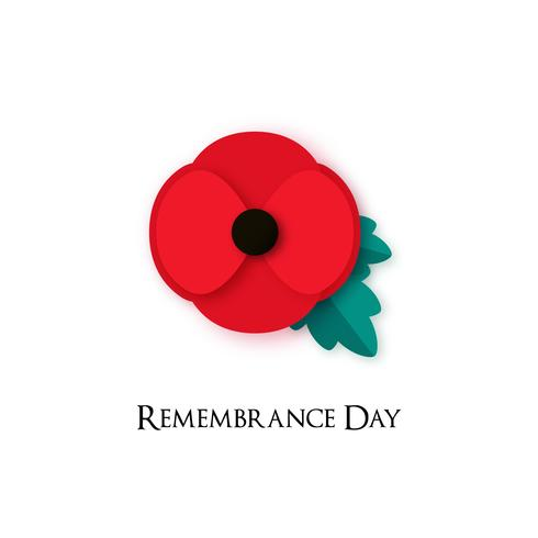 Illustration de fleur de pavot pour le jour du souvenir. vecteur