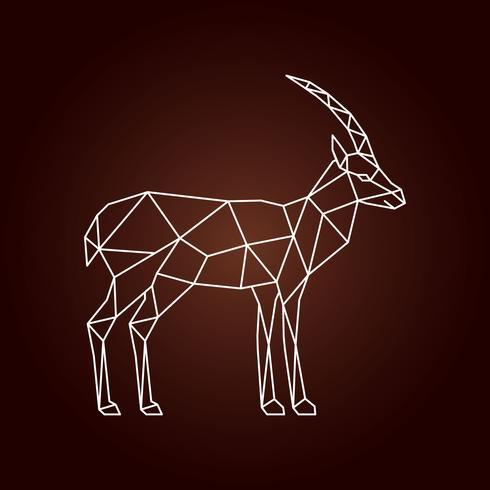 Illustration polygonale d'une gazelle. vecteur