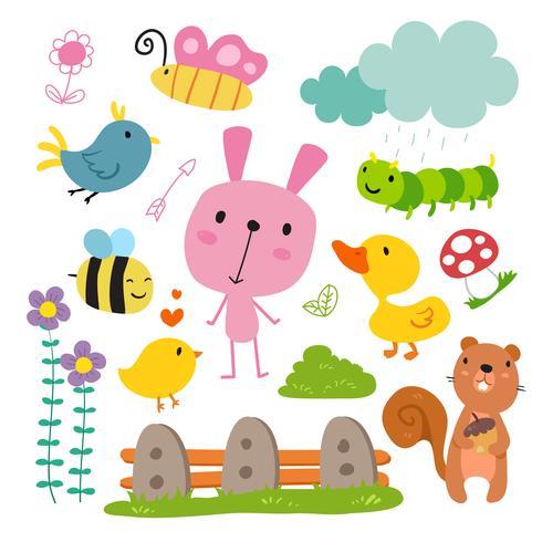 la conception des personnages animaux vecteur