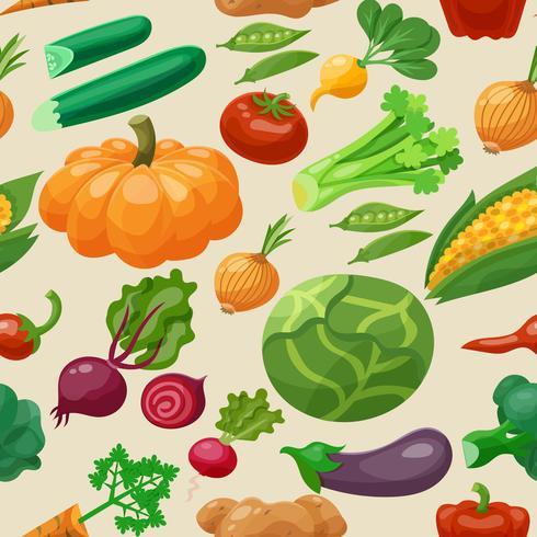 Modèle sans couture de légumes vecteur