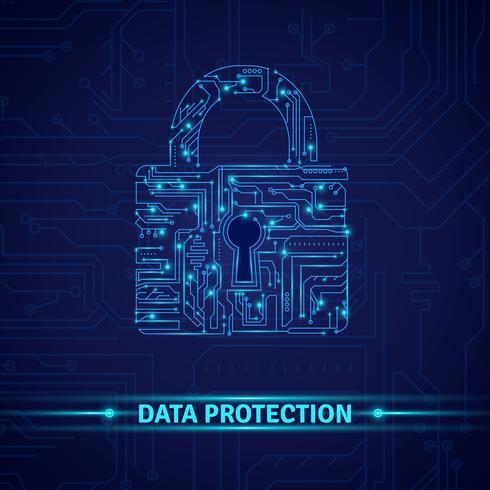 Concept de protection des données vecteur