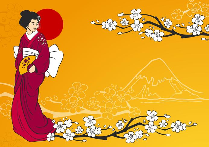 Illustration vectorielle de geisha vecteur