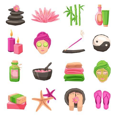 ensemble d'icônes de spa vecteur