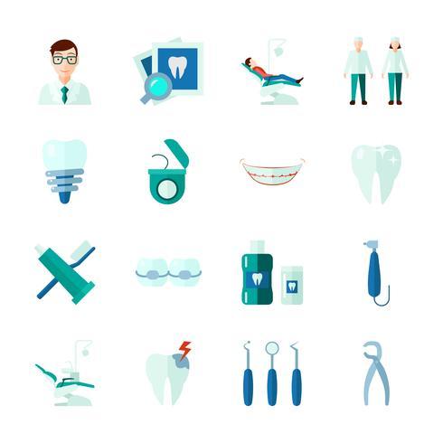 Set d'icônes dentaires vecteur