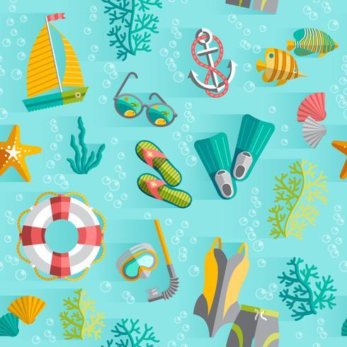 Modèle sans couture de vacances tropicales de l'été vecteur