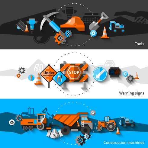 Bannières de réparation routière vecteur