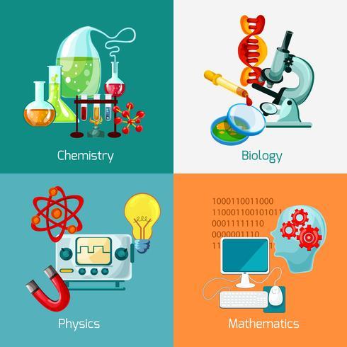 jeu d'icônes de science vecteur