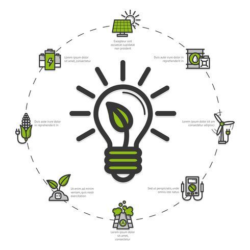 Illustration d'énergie verte vecteur