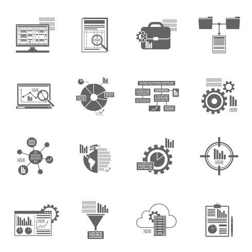 Icônes d'analyse de données vecteur