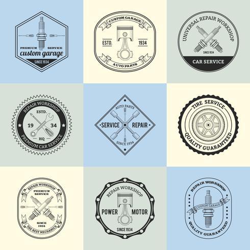 Emblèmes d'atelier de réparation vecteur
