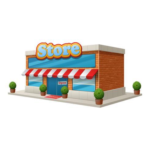 Bâtiment de magasin isolé vecteur