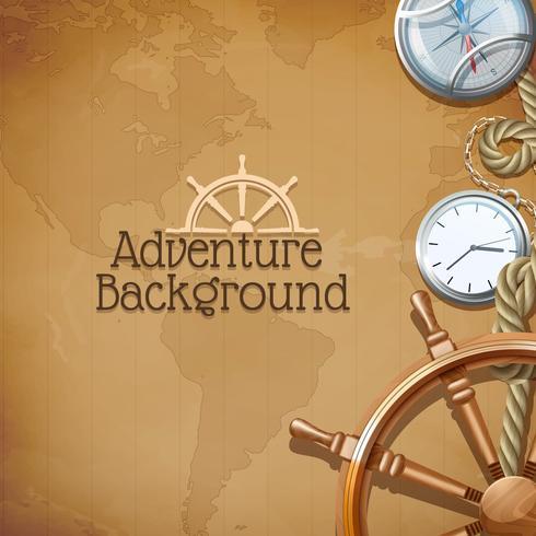Fond de carte d'aventure vecteur