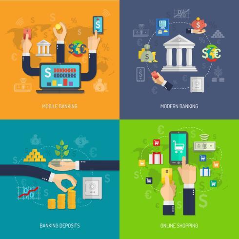Concept de conception bancaire vecteur