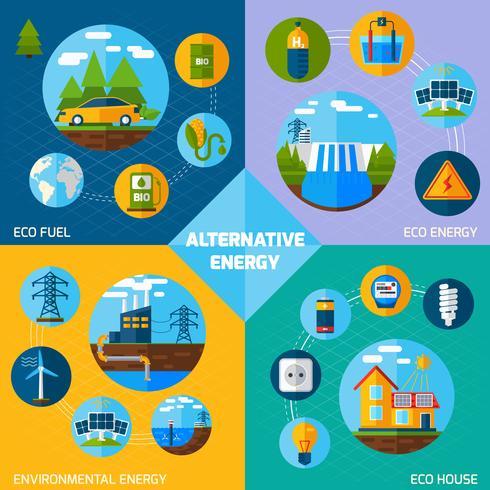 Ensemble d'énergie alternative vecteur