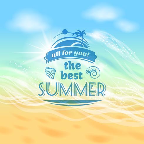Affiche de fond pour les vacances d'été vecteur
