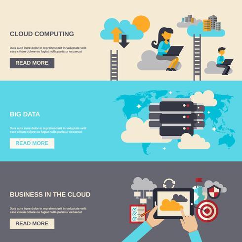 Bannière Cloud Computing vecteur