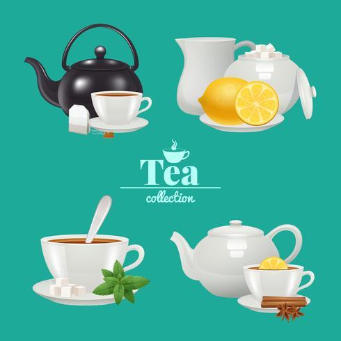 Set de thé vecteur