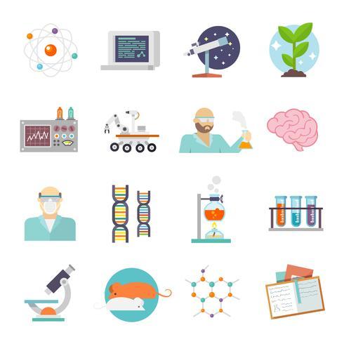 Science et recherche Icon Flat vecteur