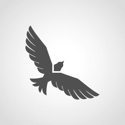 Icône de l'aigle volant vecteur
