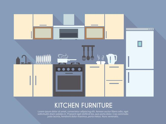 Illustration de meubles de cuisine vecteur