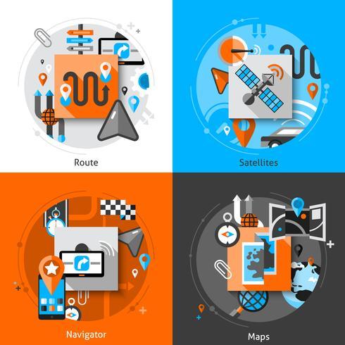 Ensemble d'icônes de navigation vecteur