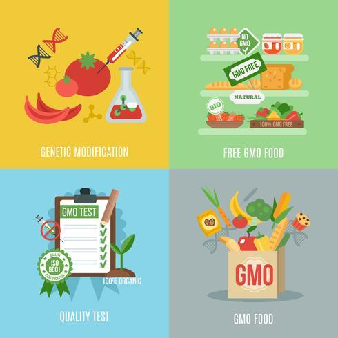 OGM ensemble plat vecteur