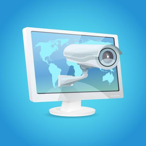 Caméra de surveillance et moniteur vecteur