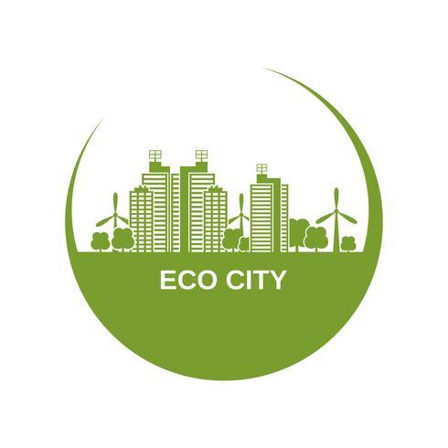 conception de la ville écologique vecteur