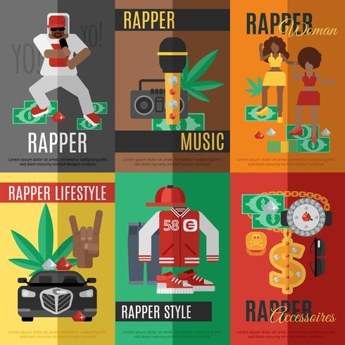 Affiche de musique rap vecteur