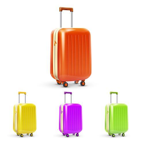 Ensemble de valise de voyage vecteur