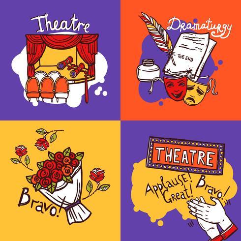 Concept de design de théâtre vecteur