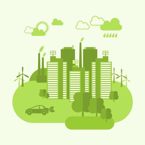concept de ville écologique vecteur