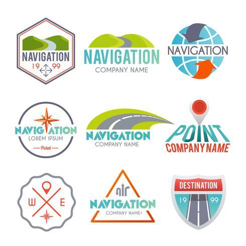 Jeu d'étiquettes de navigation vecteur