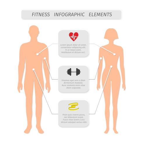 Éléments d'infographie pour les sports de fitness vecteur