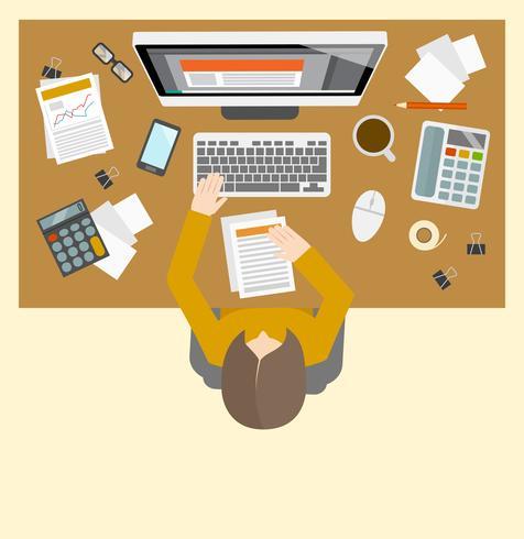 Lieu de travail de gestion de compte vecteur